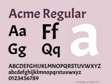 Acme Regular Version 1.002图片样张
