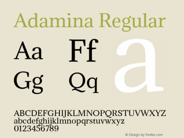 Adamina Regular Version 1.013图片样张