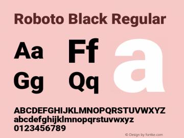 Roboto Black Regular 图片样张