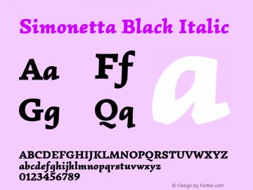Simonetta Black Italic 图片样张