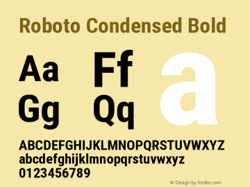 Roboto Condensed Bold Version 2.138图片样张