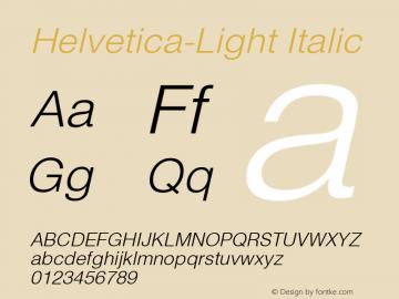 Helvetica Light Oblique Converter: Windows Type 1 Installer V1.0d.