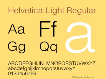 Helvetica Light Converter: Windows Type 1 Installer V1.0d.