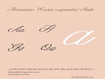 Romantico-ExtraexpandedItalic Version 1.000图片样张