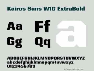 KairosSansW1G-ExtraBold Version 1.00图片样张