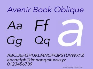 Avenir Book Oblique 8.0d3e1图片样张