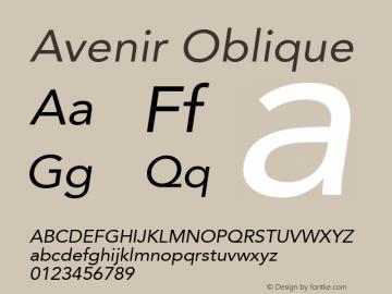 Avenir Oblique 8.0d3e1图片样张