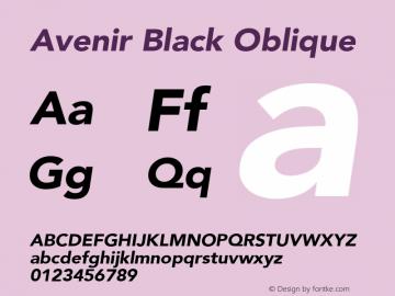 Avenir Black Oblique 8.0d3e1图片样张
