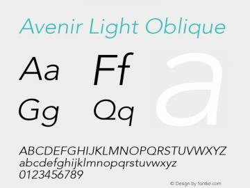 Avenir Light Oblique 8.0d3e1图片样张