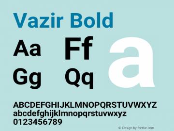 Vazir Bold Version 10.0.0图片样张