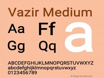 Vazir Medium Version 10.0.0图片样张
