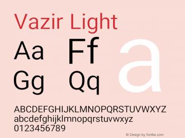 Vazir Light Version 10.0.0图片样张
