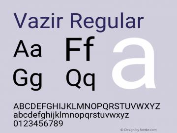 Vazir Version 10.0.0图片样张