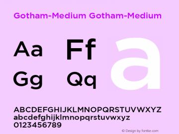 Gotham-Medium Version 1.00图片样张
