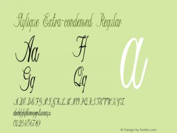 Stylique-ExtracondensedRegular Version 1.000图片样张
