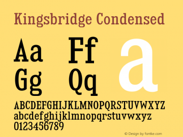 KingsbridgeCdRg-Regular Version 1.000图片样张