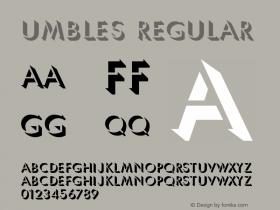 Umbles Regular Macromedia Fontographer 4.1 3/24/97图片样张