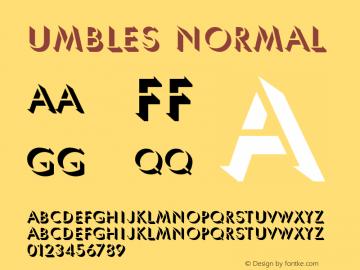 Umbles Normal 1.000 Font Sample