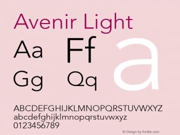 Avenir Light 8.0d3e1图片样张