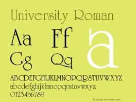 University Roman Version 001.003图片样张