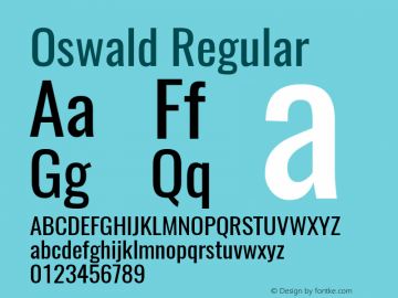 Oswald Regular Version 4.003图片样张