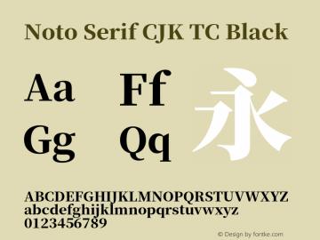Noto Serif CJK TC Black 图片样张