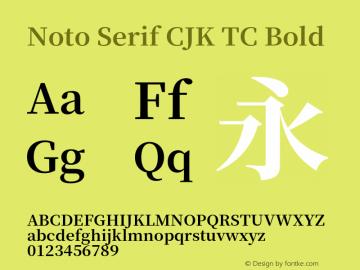 Noto Serif CJK TC Bold 图片样张