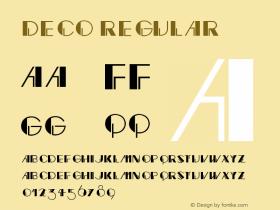 Deco Regular V1.00图片样张