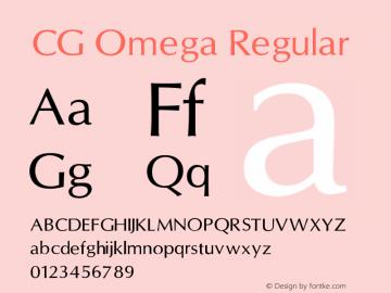 CG Omega Regular V1.00图片样张