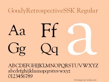 GoudyRetrospectiveSSK Regular Macromedia Fontographer 4.1 8/28/95图片样张