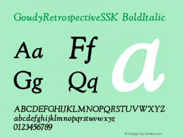GoudyRetrospectiveSSK BoldItalic Macromedia Fontographer 4.1 8/28/95图片样张
