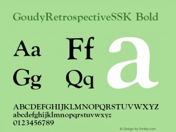 GoudyRetrospectiveSSK Bold Macromedia Fontographer 4.1 8/28/95图片样张