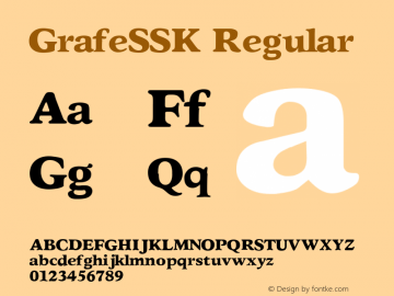 GrafeSSK Regular Altsys Metamorphosis:8/24/94 Font Sample