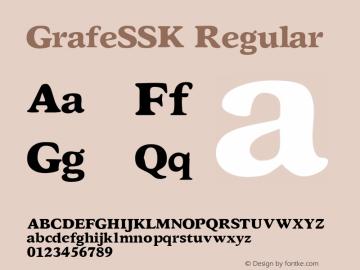 GrafeSSK Regular Macromedia Fontographer 4.1 8/3/95 Font Sample