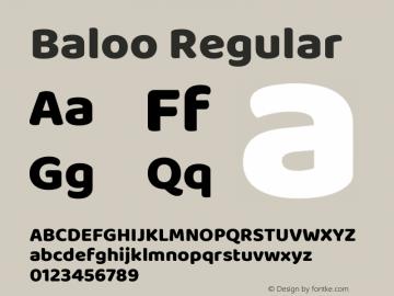 Baloo Version 1.425;PS 1.000;hotconv 16.6.51;makeotf.lib2.5.65220; ttfautohint (v1.6)图片样张