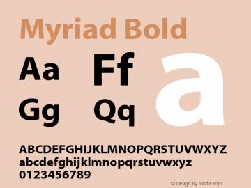 Myriad-Bold 001.000图片样张