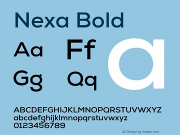 Nexa Font,Nexa Bold Font,NexaBold Font Nexa Bold Version