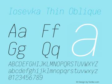 Iosevka Thin Oblique 1.13.0; ttfautohint (v1.6)图片样张
