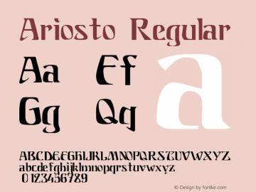 Ariosto Regular Altsys Fontographer 4.0.3 4/10/98 Font Sample