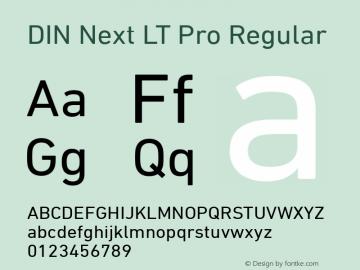 DIN Next LT Pro Font,DIN Next LT Pro Regular Font