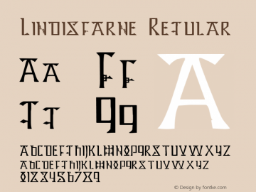 Lindisfarne Regular Altsys Fontographer 4.0.3 8/18/98 Font Sample