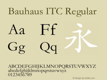 Bauhaus ITC Version 1.20 June 24, 2016图片样张