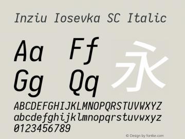 Inziu Iosevka SC Italic Version 1.13.0图片样张