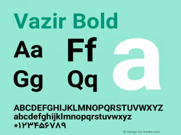 Vazir Bold Version 10.0.1图片样张
