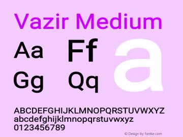Vazir Medium Version 10.0.1图片样张