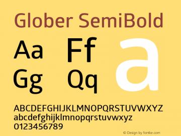 Glober SemiBold Regular Version 1.000图片样张