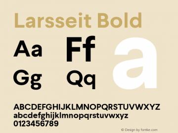 Larsseit Bold 1.000图片样张