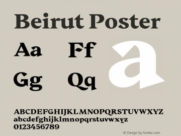 Beirut Poster Bold Version 1.000;PS 002.000;hotconv 1.0.70;makeotf.lib2.5.58329图片样张
