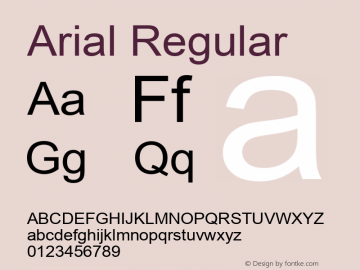 Arial Version 2.76图片样张