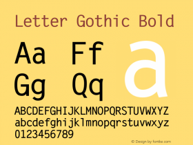 Letter Gothic Bold Version 1.00图片样张